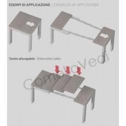 Guide Allungabili Per Tavoli.Omge 9343 30 Guide Telescopiche In Alluminio Per Consolle