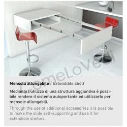 Omge 9343 30 Guide Telescopiche In Alluminio Per Consolle Allungabile A Tavolo Da 30 A 91 5cm